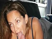 Girlfriend mummy blow-job facial