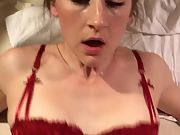 Stunning wifey pulverized and creampied